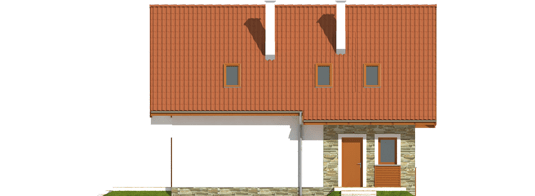 proiecte de case cu mansarda sub 100 de metri patrati Attic houses under 100 square meters 8