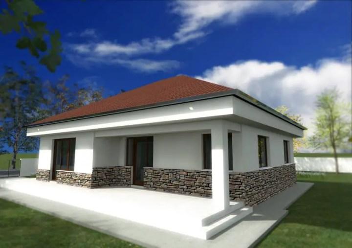 Proiecte de case cu piatra de rau - contraste superbe