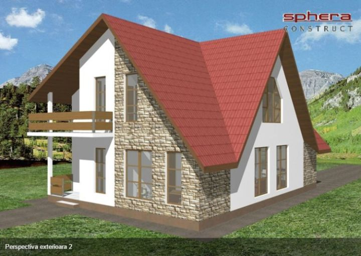 proiecte de case cu piatra de rau Houses with river stone veneer 9