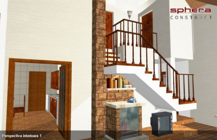 proiecte de case cu semineu House plans with fireplaces 13