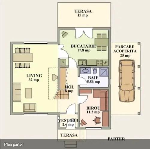 proiecte de case cu semineu House plans with fireplaces 14