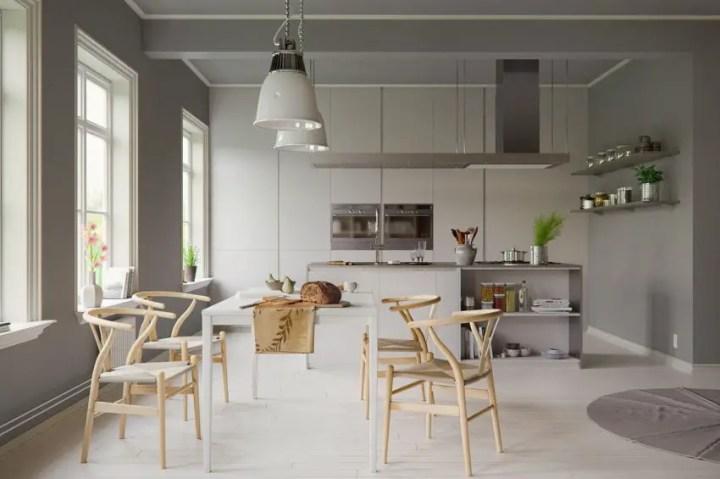 sufragerii in stil scandinav Scandinavian style dining rooms 2