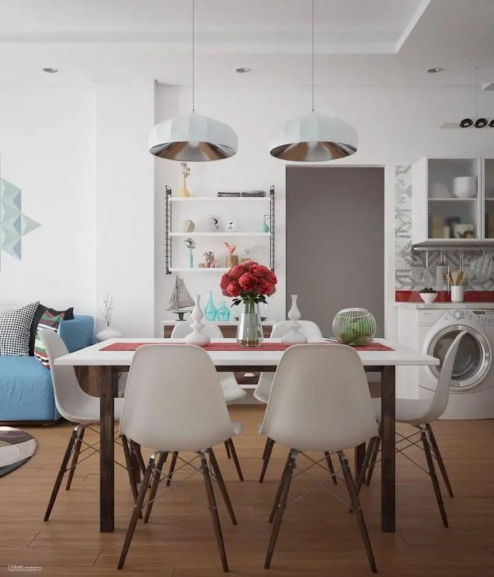 sufragerii in stil scandinav Scandinavian style dining rooms 7
