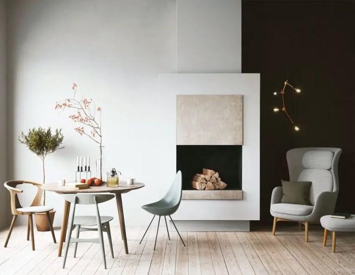 sufragerii in stil scandinav Scandinavian style dining rooms 8