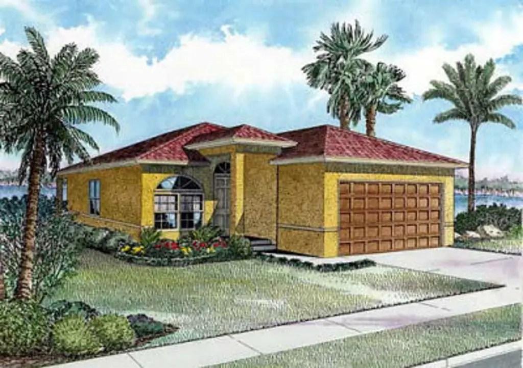 Proiecte de case cu 3 camere Sursa: houseplans.com