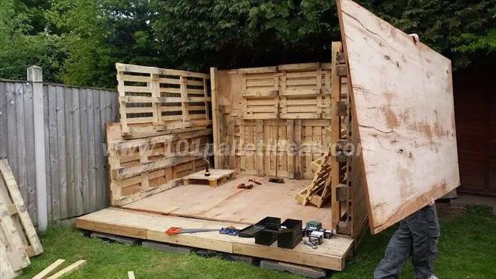 case construite din paleti Wood pallet houses 3