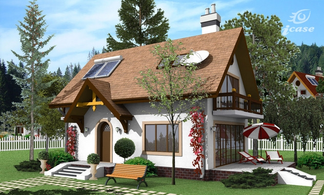 case cu mansarda si balcon Houses with attic and balconies 11