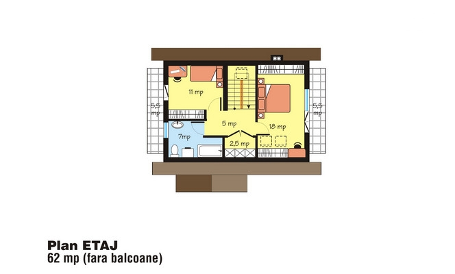 case cu mansarda si balcon Houses with attic and balconies 12