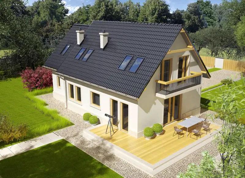Trei proiecte de case cu mansarda si balcon case practice - Houses with attic and balconies ...