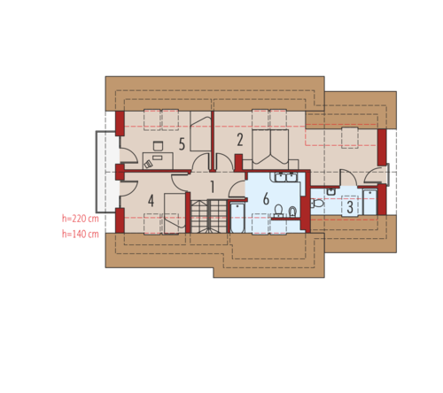 case cu mansarda si balcon Houses with attic and balconies 9