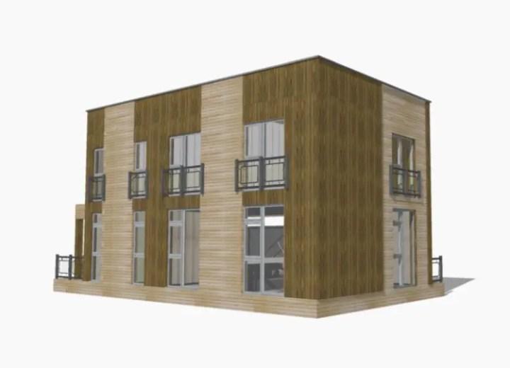 case din panouri din lemn wood panel house plans 7