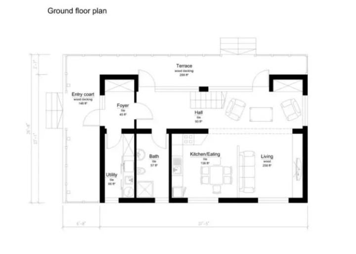 case din panouri din lemn wood panel house plans 9