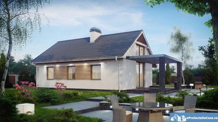 Case mici sub 100 de metri patrati - un aer modern