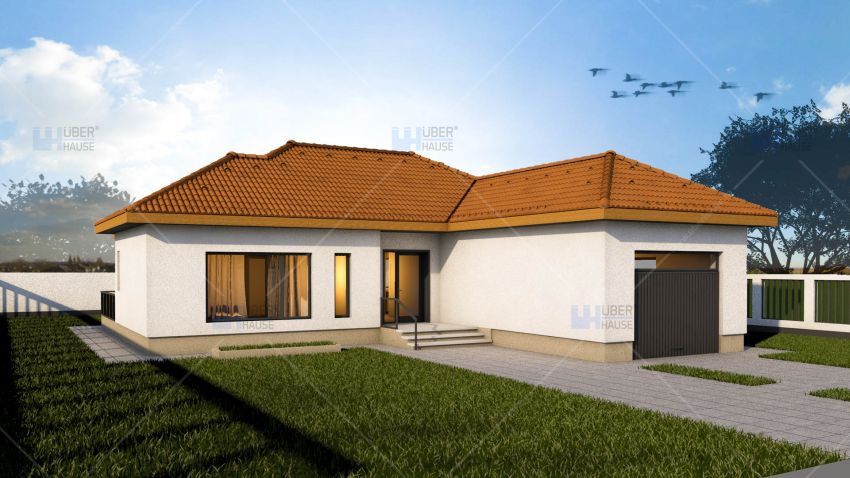 Case mici sub 100 de metri patrati 3 proiecte frumoase for Case cu mansarda mici