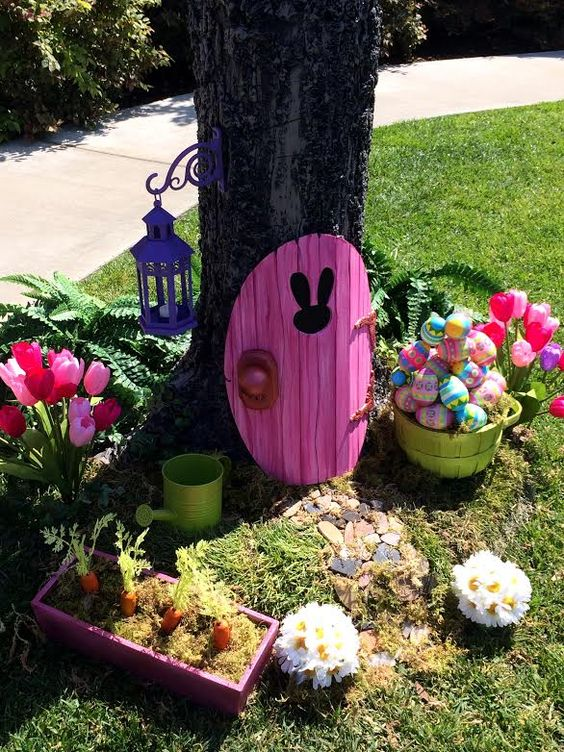 decoratiuni de paste in gradina Outdoor Easter decorations 2