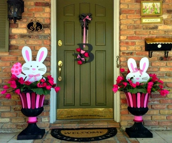 decoratiuni de paste in gradina Outdoor Easter decorations 3