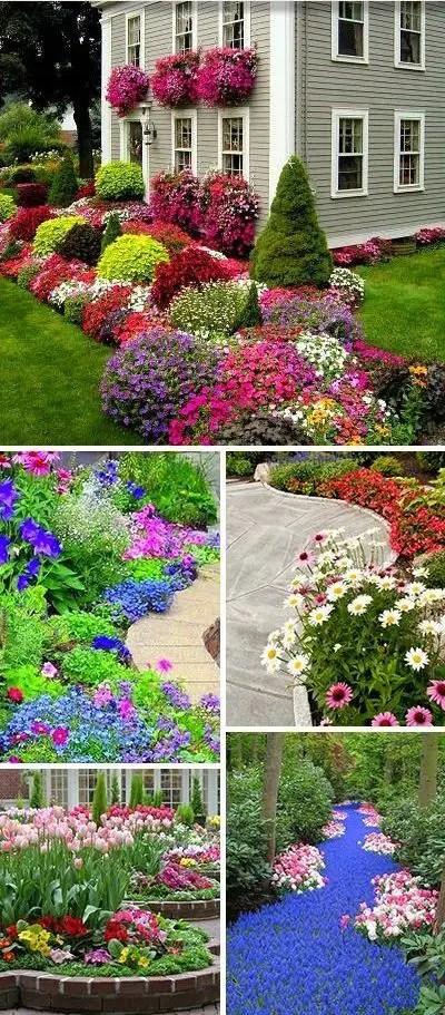 idei de amenajare a gradinii cu flori flower garden landscape ideas 16