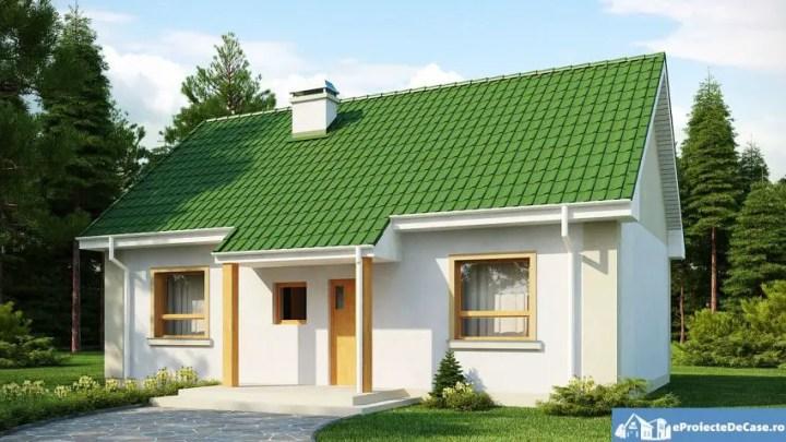 Proiecte de case de 70 de metri patrati - contraste placute