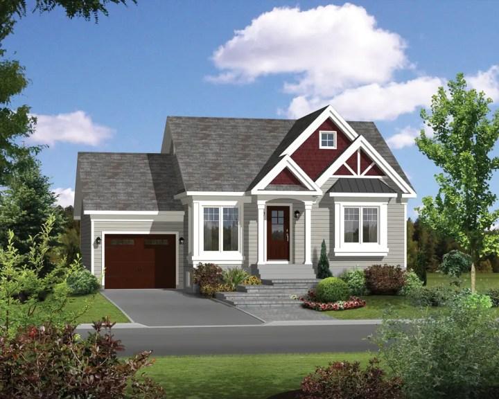 Modele de case simple cu doua dormitoare FOTO: houseplans.com