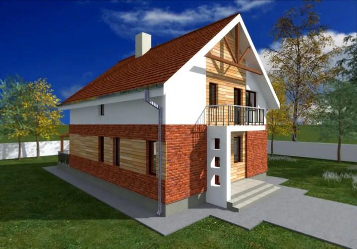 Case cu fatada de caramida brick facade houses 5