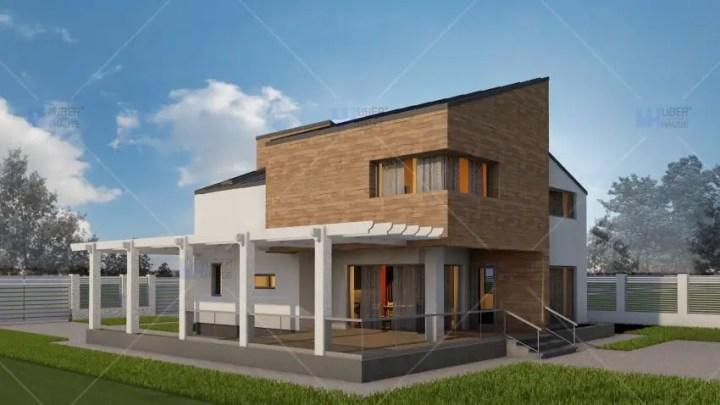 Case cu fatada de caramida brick facade houses 9