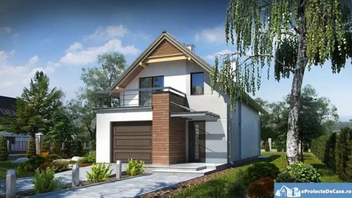 Case mici cu garaj si mansarda - o buna optiune pentru un teren ingust