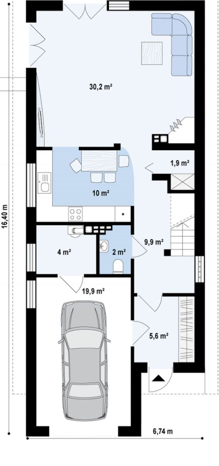 case mici cu garaj si mansarda Small houses with attic and garage 4