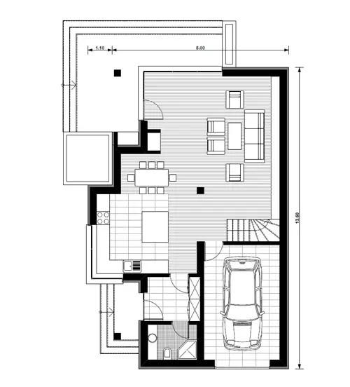 case mici cu garaj si mansarda Small houses with attic and garage 8