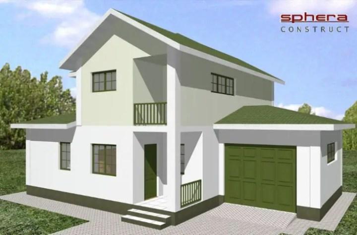 Case mici cu garaj si mansarda - o arhitectura elaborata