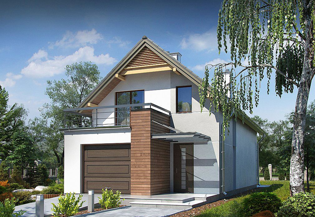 Trei proiecte de case mici cu garaj si mansarda case for Proiecte case cu garaj si mansarda