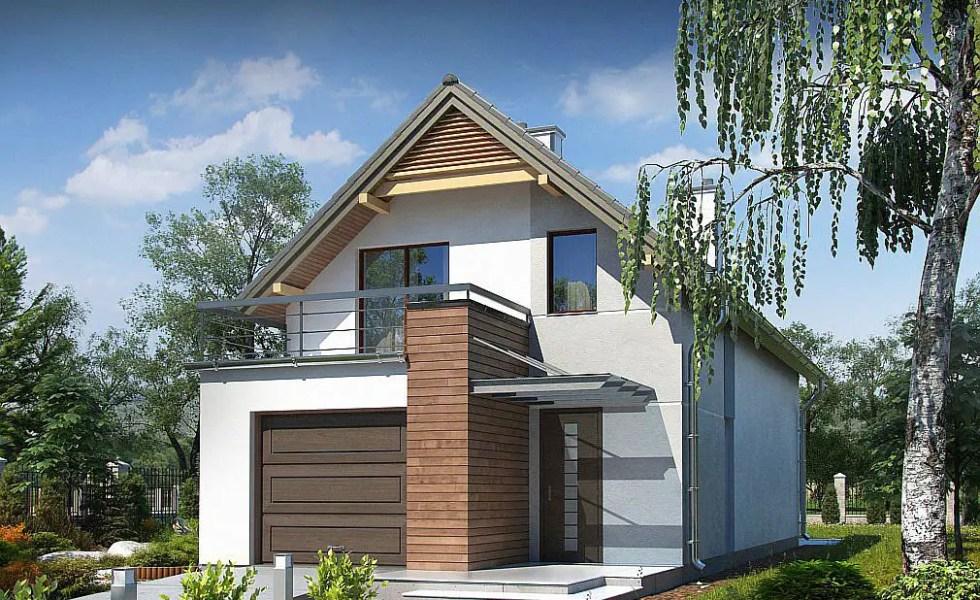 trei proiecte de case mici cu garaj si mansarda case