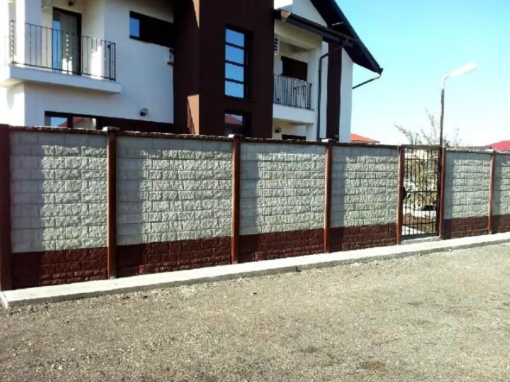 Garduri din placi de beton - modele variate pentru gusturi diferite Sursa foto: Konkretline.ro