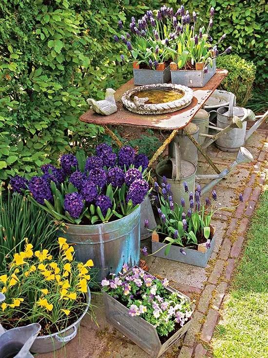 gradini rustice cu flori Rustic flower gardens 3