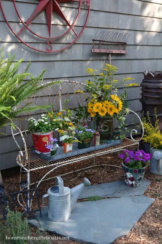 gradini rustice cu flori Rustic flower gardens 7