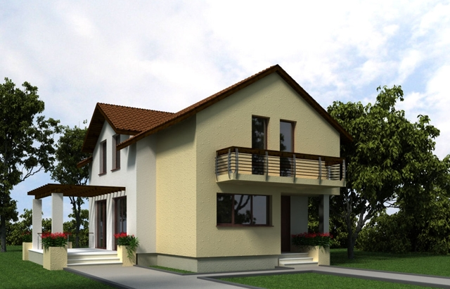 Proiecte de case cu etaj mansardat - spatii mai largi, pentru orice tip de activitate