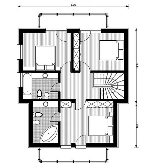 proiecte de case cu etaj mansardat attic house plans 6