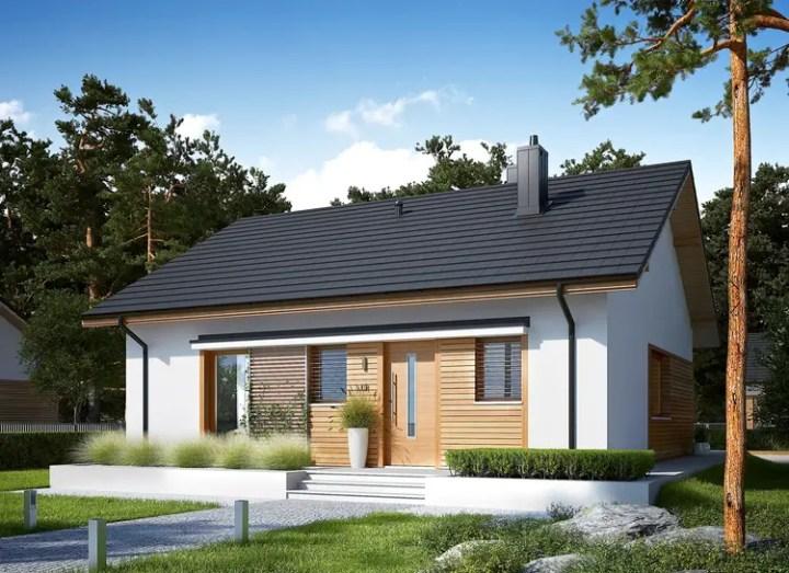 proiecte de case fara etaj cu 2 dormitoare Two bedroom single story house plans 9