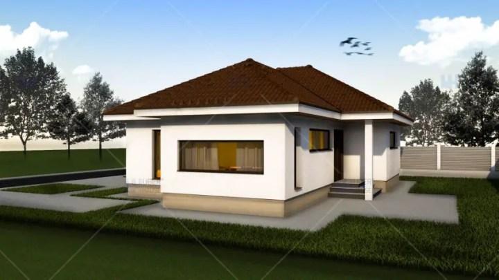 proiecte de case mici pe un singur nivel Small single level house plans 5