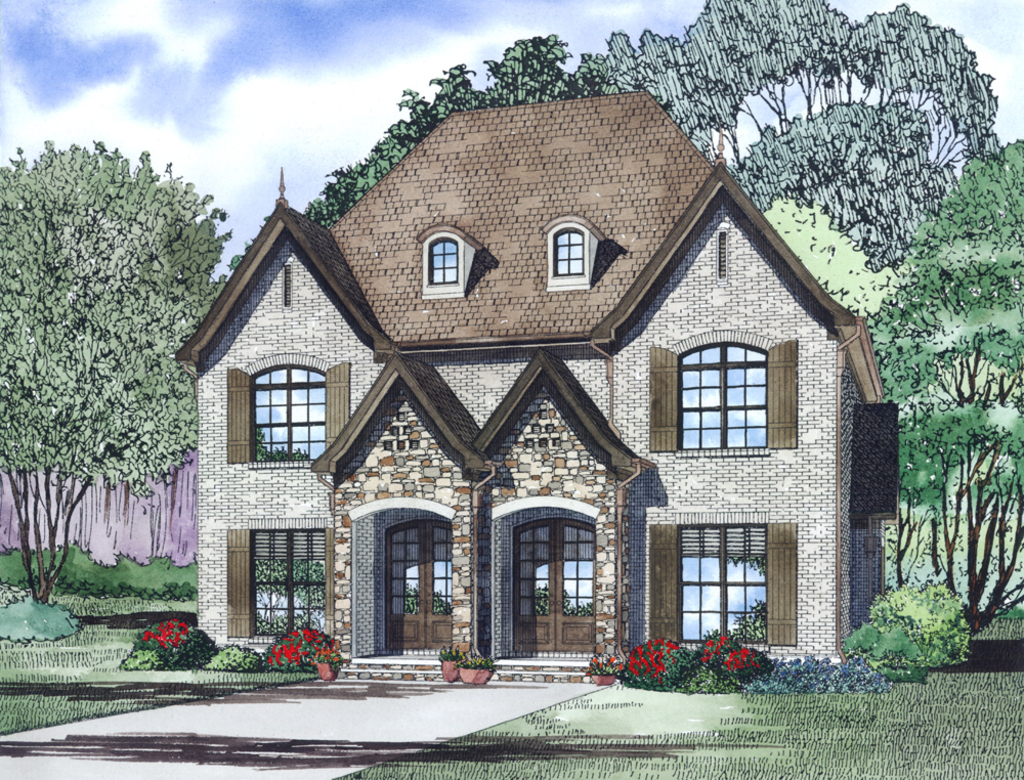 Idei de case duplex trei proiecte ideale pentru doua familii for Www houseplans com