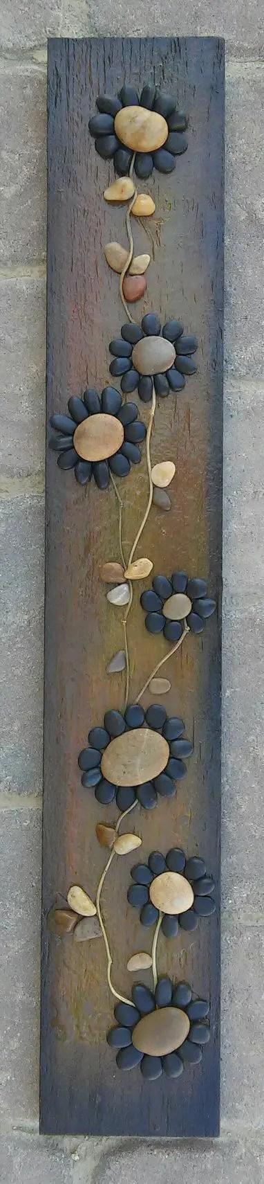 amenajarea gradinii cu pietris Pebble garden decoration ideas 10
