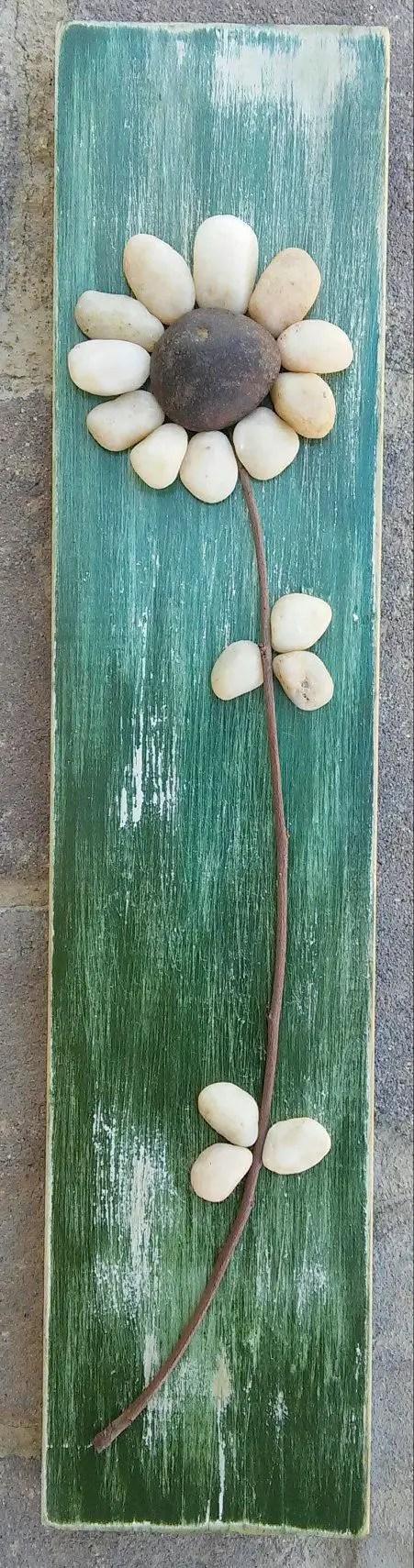 amenajarea gradinii cu pietris Pebble garden decoration ideas 5