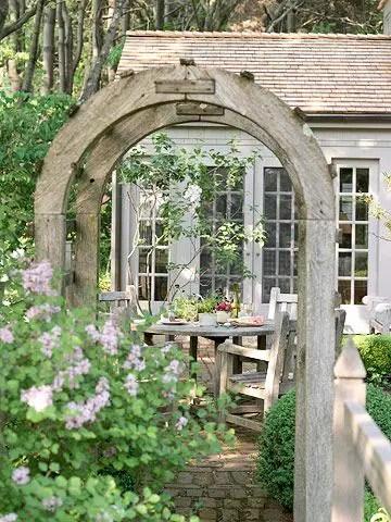 arcade de gradina din lemn garden wood arches 13