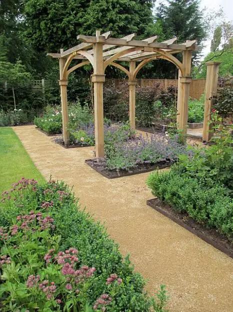 arcade de gradina din lemn garden wood arches 3