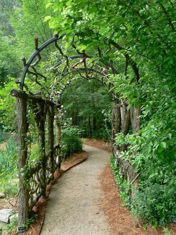 arcade de gradina din lemn garden wood arches 9