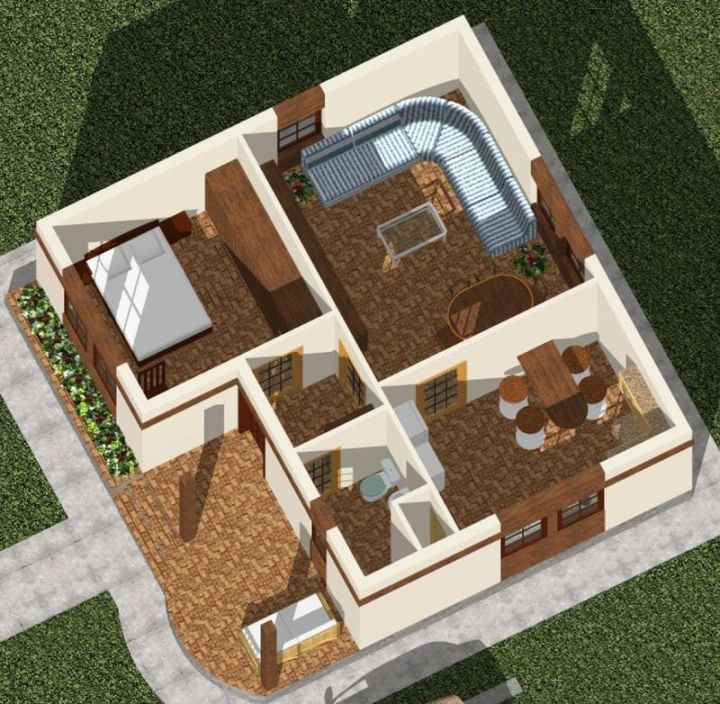 case cu doua camere two room house plans 7