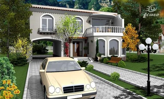 Case cu terasa in spate - arhitectura mediteraneana