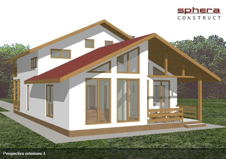 case cu terasa in spate Back patio house plans 12
