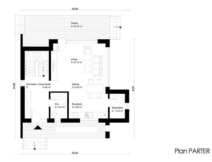 proiecte de case cu etaj sub 150 de metri patrati Two story houses under 150 square meters 13