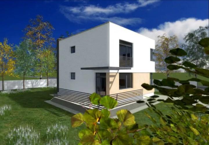 proiecte de case cu etaj sub 150 de metri patrati Two story houses under 150 square meters 3