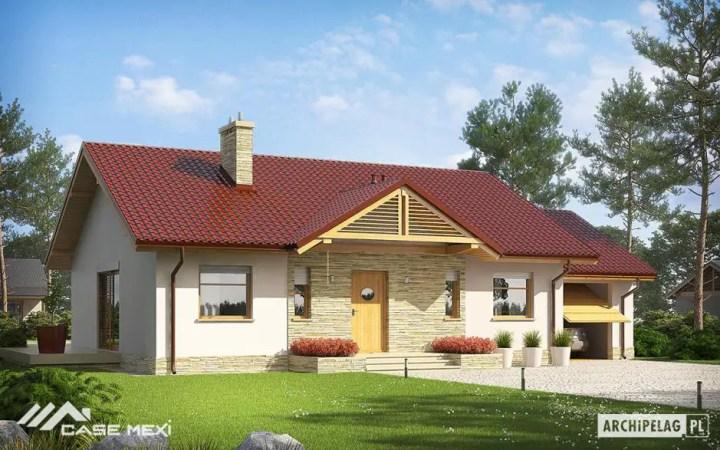 Proiecte de case cu parter si 3 dormitoare - design modern